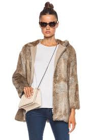 image 1 of a p c burnou fur jacket in beige