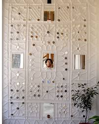 Broken Mirror Wall Art Gujarat Mud Houses Siddhartha Interior Design Pinterest