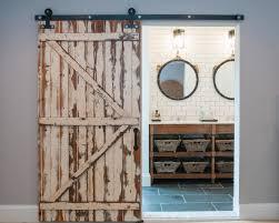 rustic interior barn doors. 5 Things Every \u0027Fixer Upper\u0027-Inspired Farmhouse Bathroom Needs. Rustic Barn DoorsInterior Interior Doors O