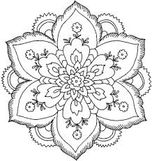 Simple Flower Coloring Pages Csengerilawcom