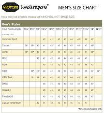 Vibram Size Chart Men Vibram Size Chart Related Keywords Suggestions Vibram