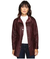 dylan by true grit easy rider vintage faux leather reversible coat w snap closure and pockets