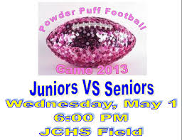 powder puff football flyers john carroll high school catholic high school private high school