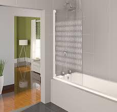 frosted glass bath panels. aqualux white aqua 4 ribbon etched glass half frame bath shower screen fbs0320aqu . frosted panels