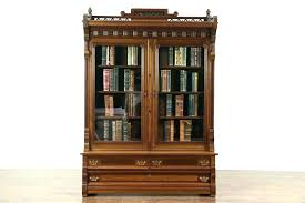 bookcase antique glass door bookcase library with doors bookcases target red old cherry oak single