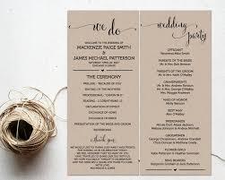 Templates For Wedding Programs Ceremony Programs Wedding Program Template Ceremony