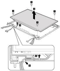 lcd panel and lcd cable removal and installation thinkpad t 76848 lcdpanel jpg