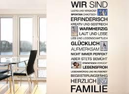 Wandtattoo Spruch Wir Sind Familie Bilderrahmen E026 Sprüche