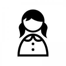女性のシルエット05 無料のaipng白黒シルエットイラスト