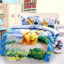 stylish cotton pokemon cartoon bedding set gift kids pikachu duvet pokemon bed set remodel