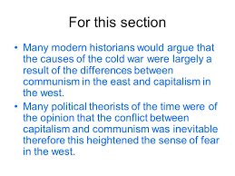origins of the cold war essay plan ppt video online 5 for this section many modern historians would argue that the causes of the cold war