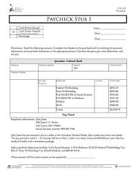 Check Stub Template Free Download 29 Great Pay Slip Paycheck Stub Templates Free Template Downloads