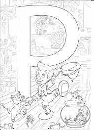 Disegni Disney Da Stampare E Colorare P For Pinocchio Colorear