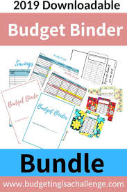 Save Money Monthly Chart The 2019 Budget Binder Budgeting Is A Challenge