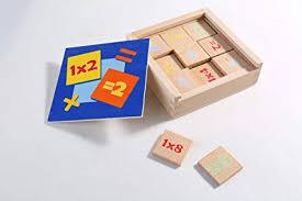 Amazon Com Multiplication Chart Wooden Tiles