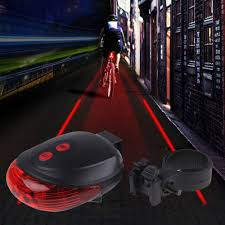 Us 1 94 35 Off Wasafire 5led 2laser Cycling Safety Bicycle Rear Lamp Bike Light Laser Tail Headlight Warning Lamp Flashing Taillight Rearlamps In