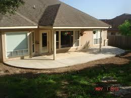 400 sq ft concrete patio extension
