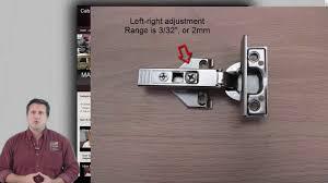 how to adjust blum hinges to align cabinet doors