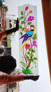 Flower Design Glass Door Pin By Sakthikumar Selvaraj On Glass Art A V M In 2020