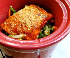 crock pot salmon asian style veggies