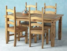 Corona Mexican Cheap Pine Dining Table And Chairs