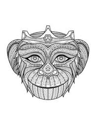 Small Picture Free coloring page coloring difficult monkey A coloring page with