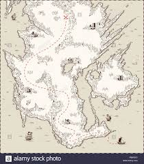 Vector Old Map Pirate Treasure Template For Your Design