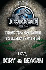 Jurassic Park Invitations Jurassic World Birthday Invitations Eargear