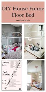 DIY House Frame Floor Bed Plan - D.I.Y -HOUSE-FRAME-FLOOR-BED
