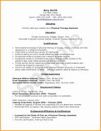 Resume For Physical Therapist Example For Free Physical Therapy
