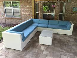 outdoor white wicker furniture nice. Beautiful Ohana Outdoor Patio Wicker Furniture Deep Seating Couch Set New White Nice