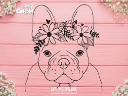 Free use can only be done if you credit us when publishing the graphic. French Bulldog Flower Crown Graphic By Babygnom Creative Fabrica