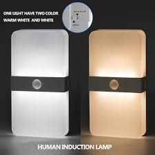 Bathroom Led Night Lights Us 13 94 33 Off Pir Motion Induction Night Light For Bathroom Night Lamp With Warm Whtie And White Two Colors In Led Night Lights From Lights