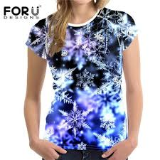 <b>FORUDESIGNS</b> 3D Flowers Rose <b>T-shirts Women</b> Summer <b>Tops</b> ...