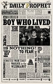 Harry Potter Newspaper Template Daily Prophet Newspaper Template Magdalene Project Org