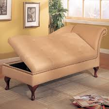 Lounge Chair Bedroom Leather Bedroom Chaise Lounge Chair With Hidden Storage Under Pad