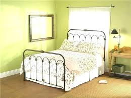White Metal Queen Bed Headboard Footboard Frame With And Brackets ...