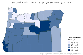 oregon workforce and economic information Local Area Unemployment Statistics Map see the full labor force and unemployment by area press release in 36 counties and metropolitan areas in oregon bureau of labor statistics local area unemployment statistics map
