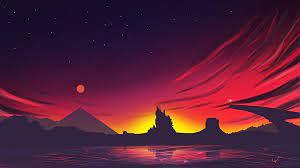 343749 Sunset, Scenery, Minimalist ...