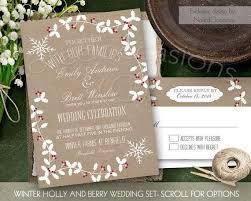 Rustic Winter Wedding Invitations Brown Wedding Invitation Kits Great Winter Wedding Invitation Kit