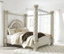 upholstered canopy bed. Beautiful Bed Cassimore North Shore Pearl Silver King Upholstered Poster Canopy Bed For O