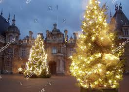 Christmas Lights Buckinghamshire Christmas Lights Adorning Entrance Waddesdon Manor