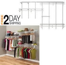 shelf track adjule closet organizer kit super slide hang rod system 10 feet