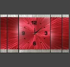 australia made red metal wall clock design