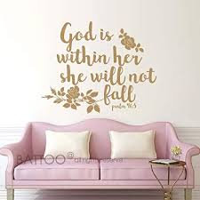 battoo psalm 46 5 bible wall decal quote god is within her she will on scripture vinyl lettering wall art with amazon battoo psalm 46 5 bible wall decal quote god is within