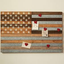 wooden american flag magnetic memo board
