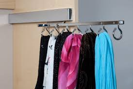 Stainless Steel Hooks For Organizing Scarves In Small Closet. Scarf Storage  Ideas ...