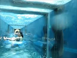 underwater water slide atlantis64 underwater