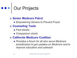 California Health Advocates Copyright Overview Of Medicare
