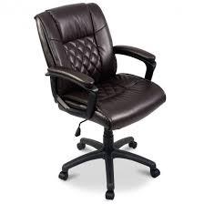 executive computer chair. Brown Mid-Back Executive Computer Chair